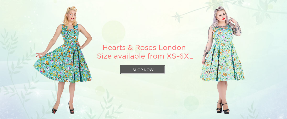 Hearts & Roses London Size available from XS-6XL