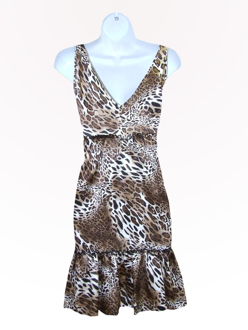 Leopard Print Party Dress