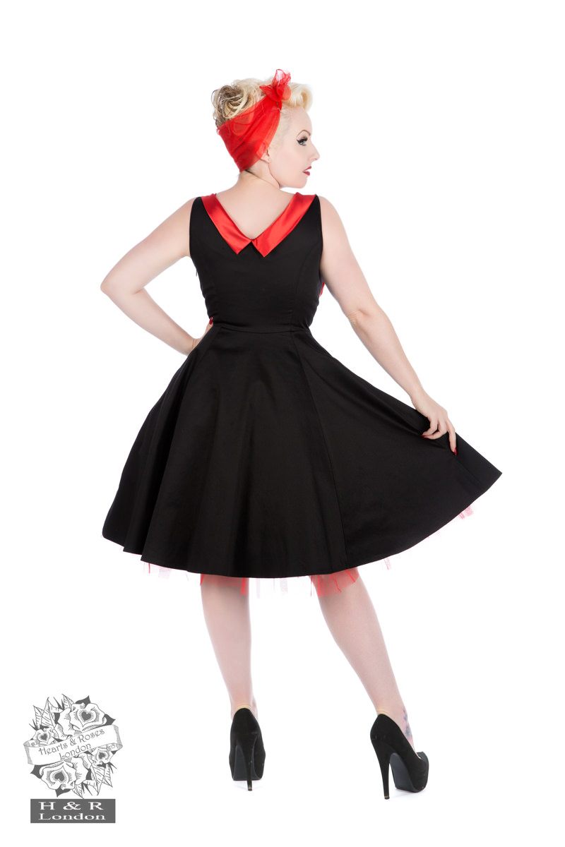 Classic Black Ophelia Satin Cocktail Dress