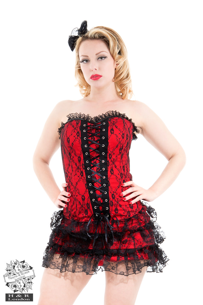 Red  Moulin Rouge Corset Dress