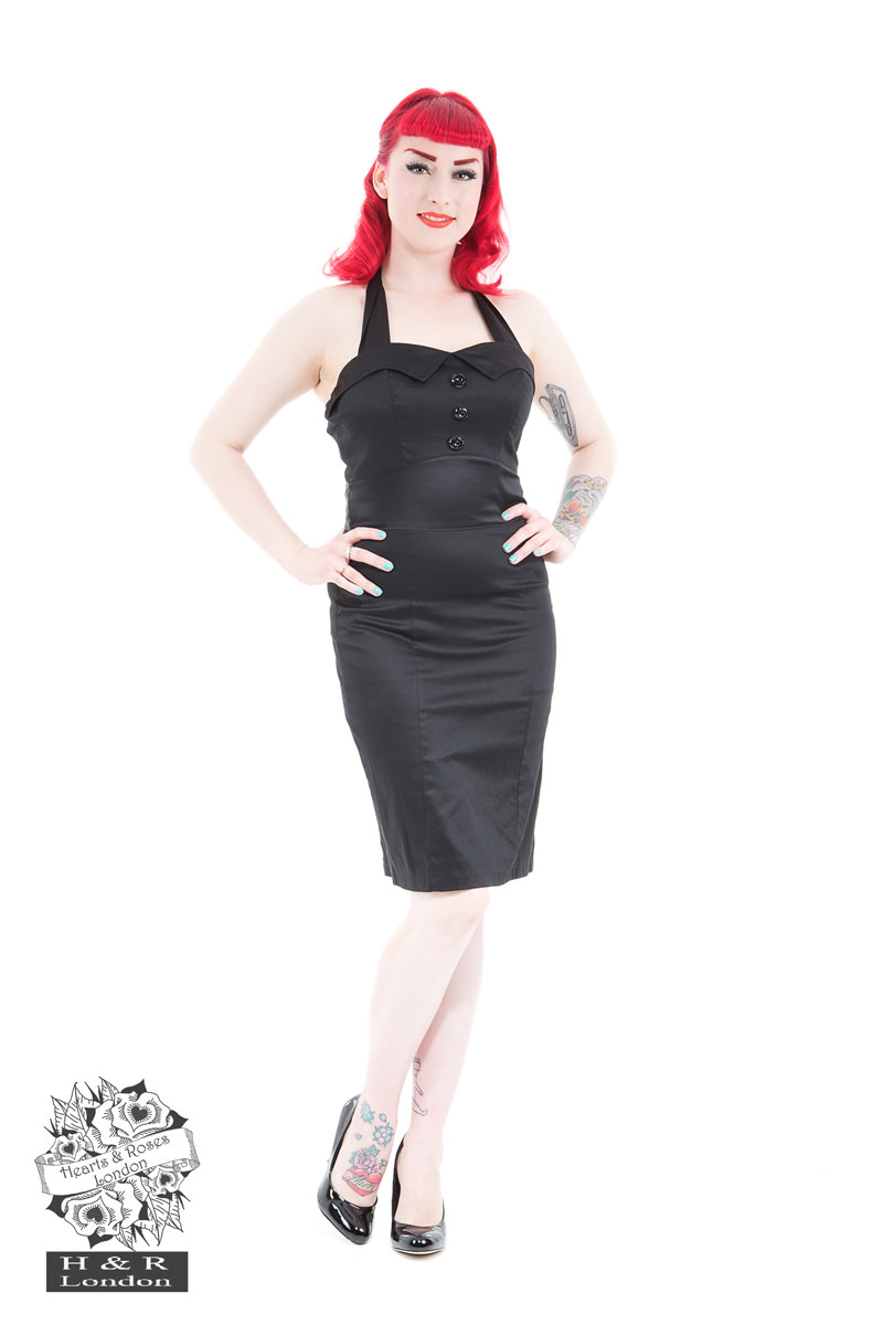 Black Ebony 40s Pencil Dress