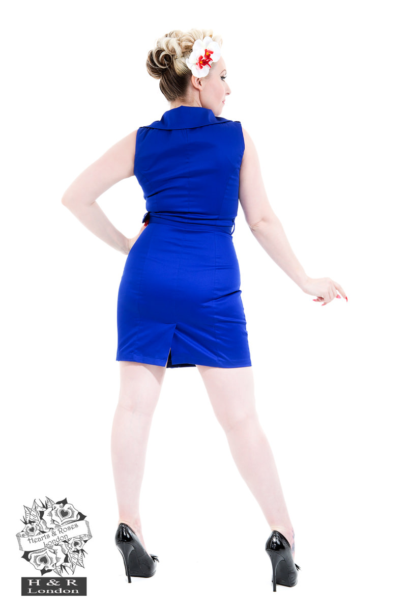 Royal Blue Zip Dress