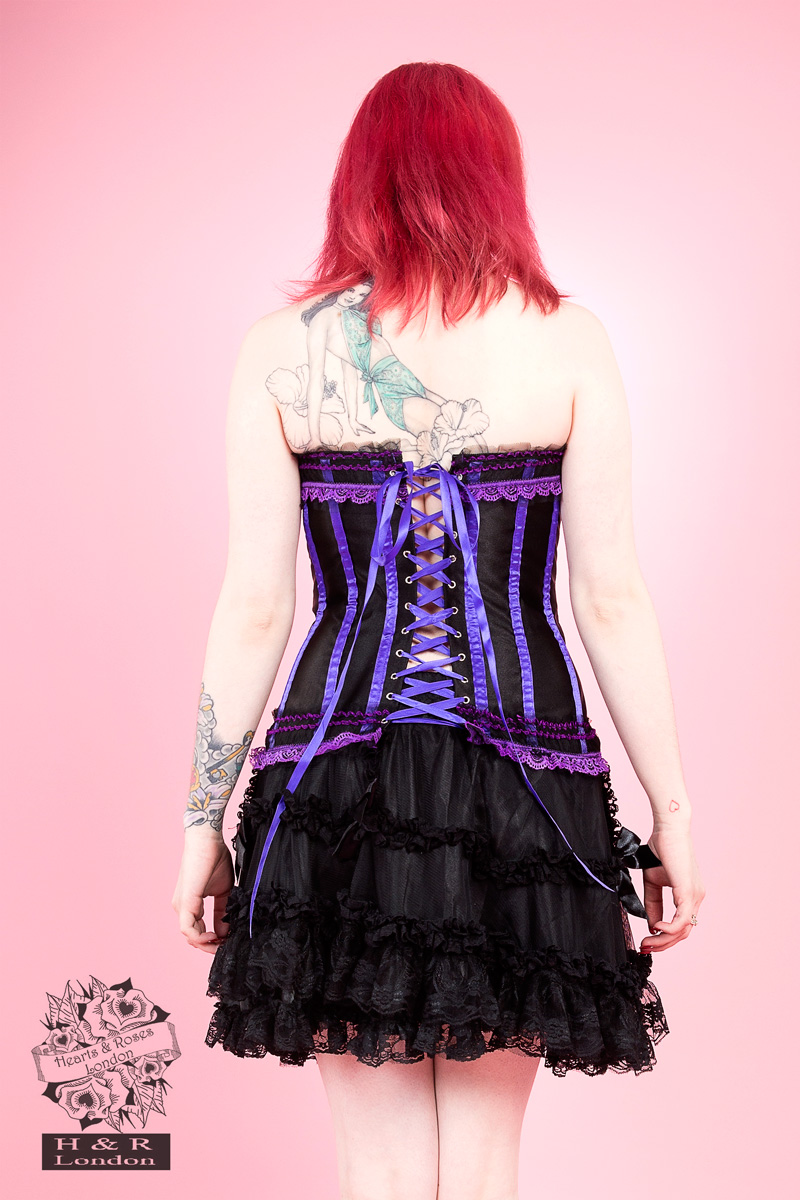 Purple Burlesque Satin Corset