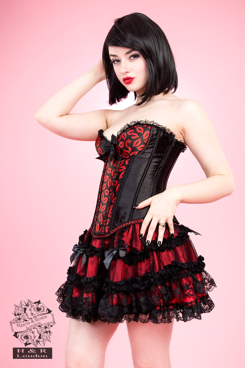 Hot Lips Burlesque Corset