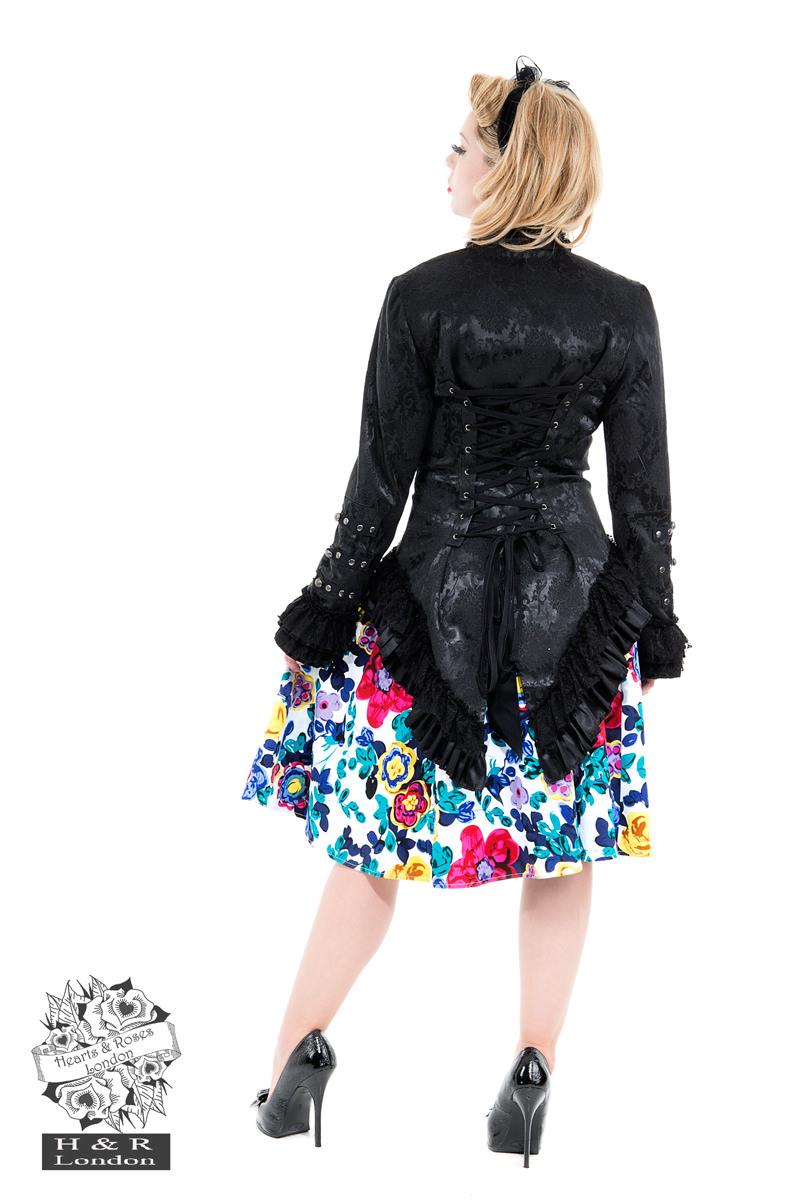 Black Victorian Brocade Jacket