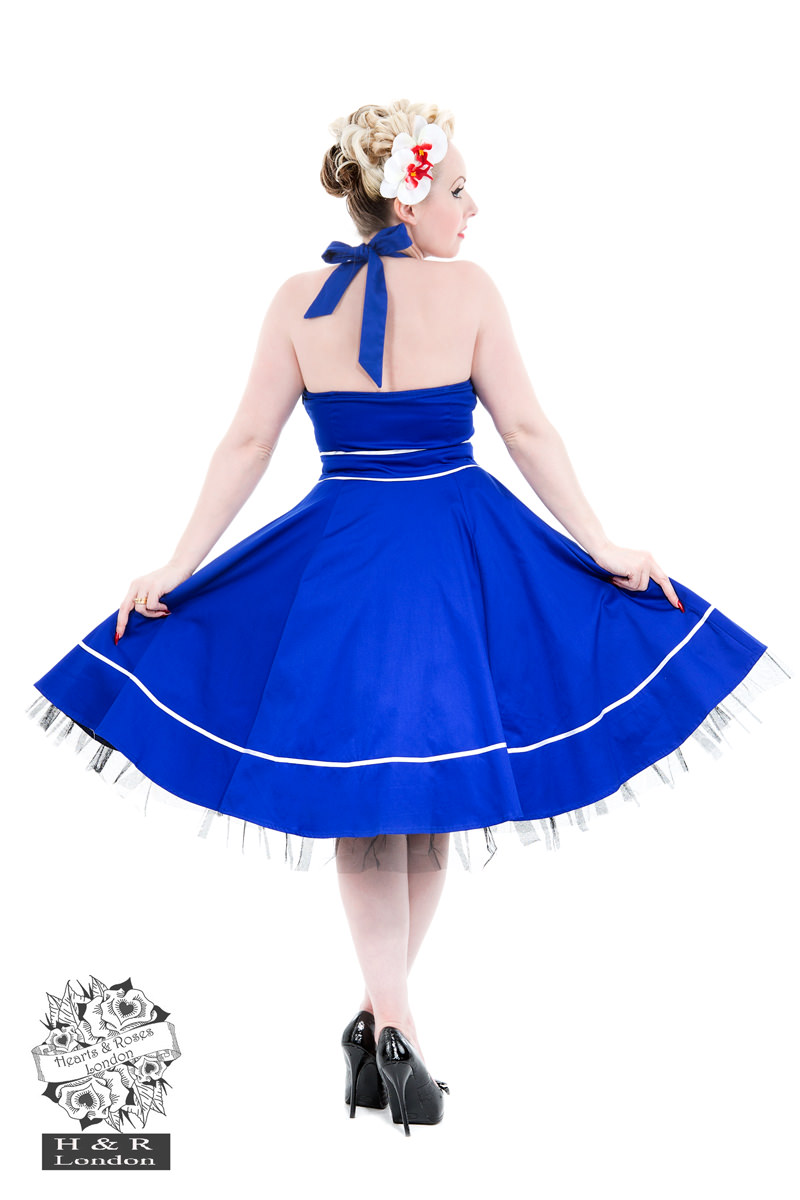 Blue Sailors Moon Halterneck Dress