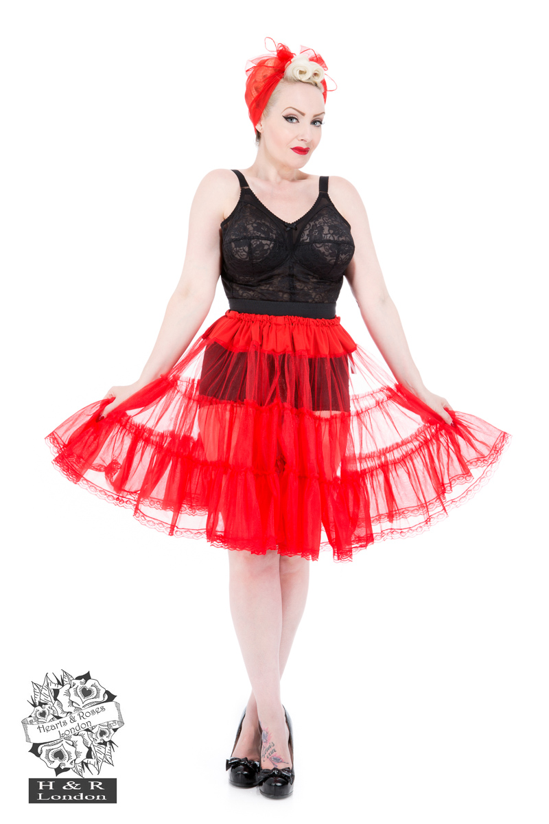 Red 25'' Petticoat