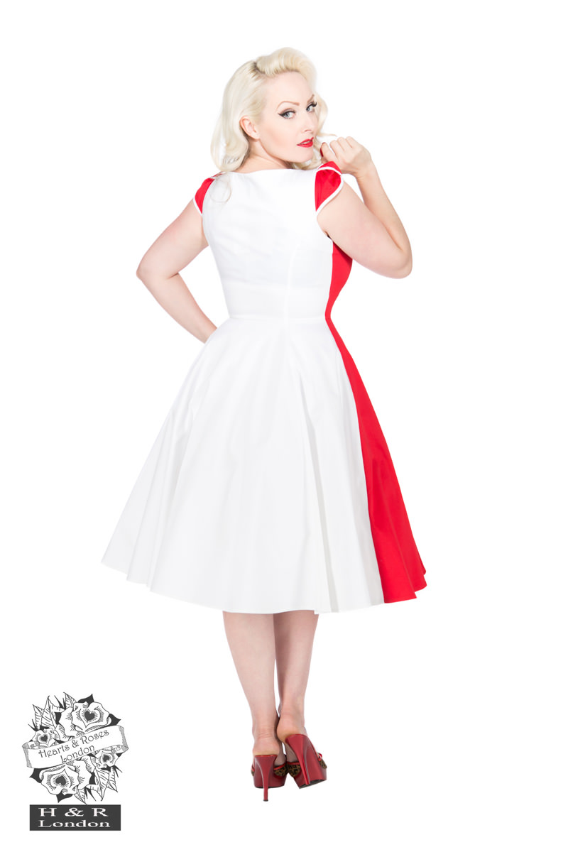 Pageant  Red White Penny Dress