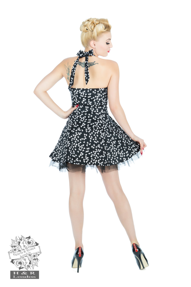 Black White Small Butterfly Dress