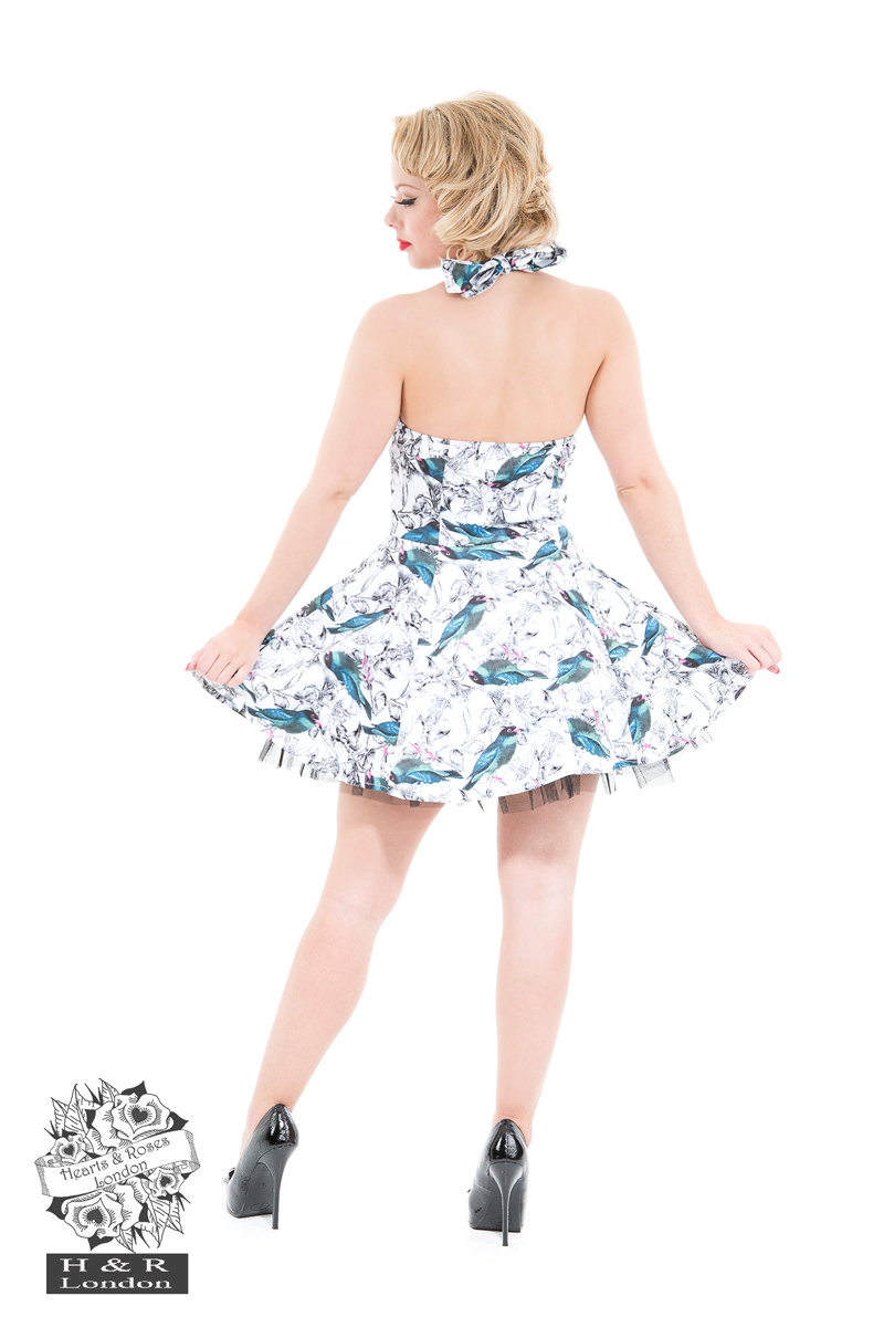Swallow Bird Print Dress