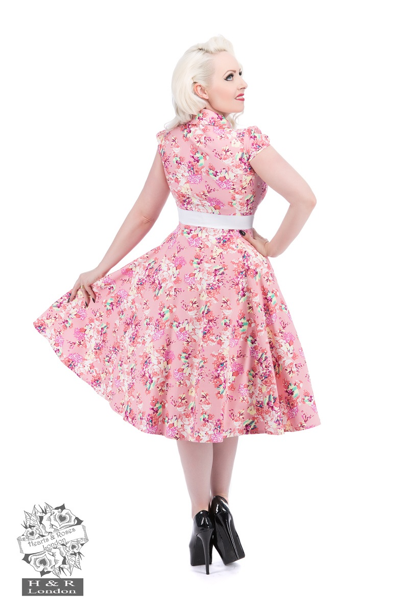 Charlotte Rose Floral  Tea Dress