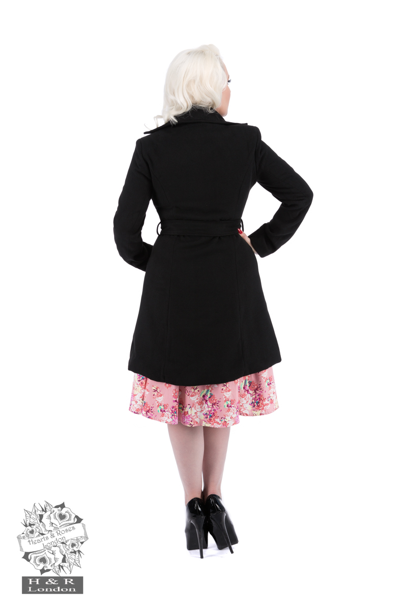 Black Black Flocked Coat
