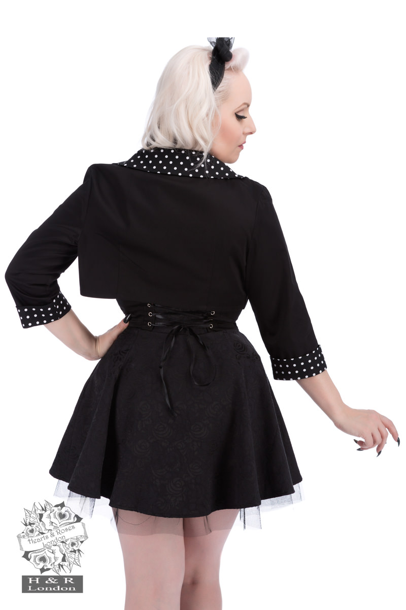 Black White Small Polka Dot Bolero