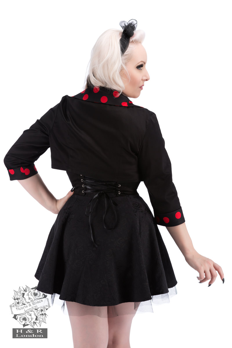 Black Red Big Polka Dot Bolero