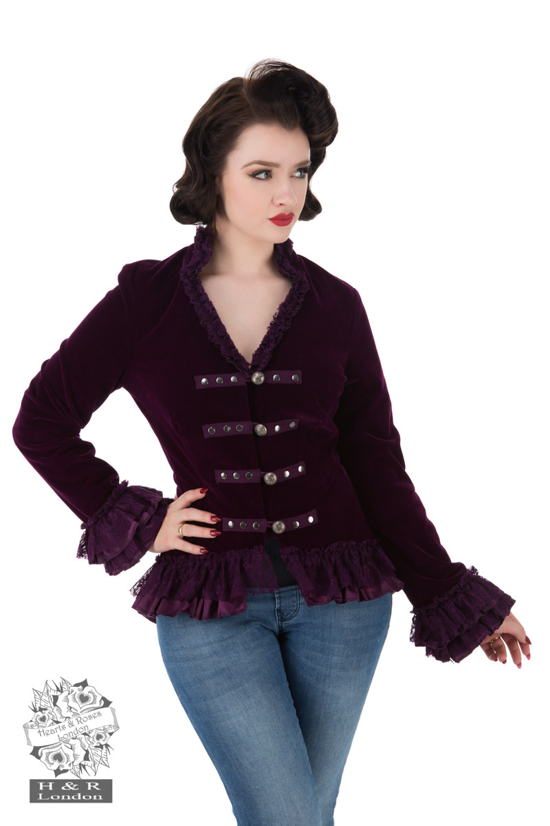 Purple Victorian Velvet Jacket