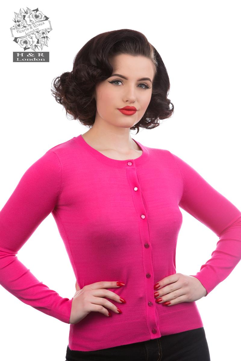 Fuchsia Pink Cardigan