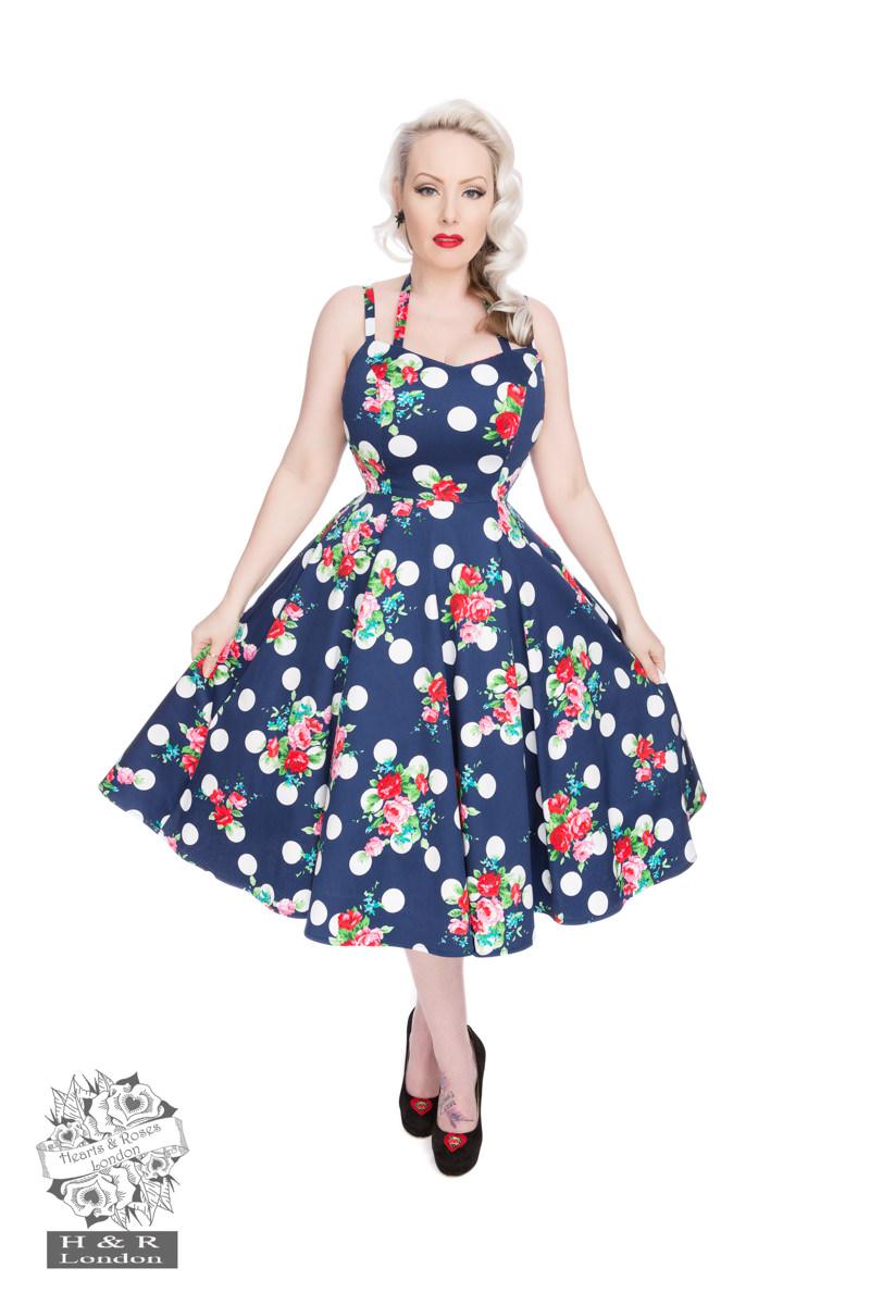 Dotty Floral Swing Dress