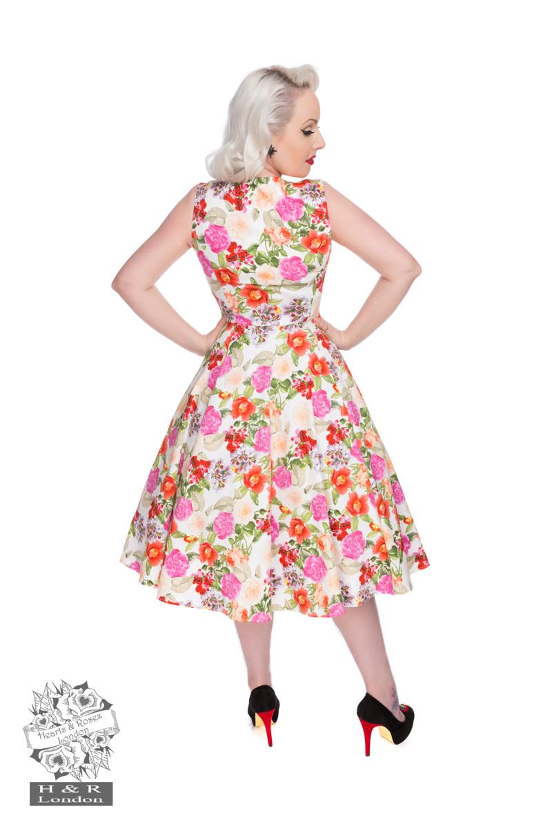50s Adelise Roses Swing Dress