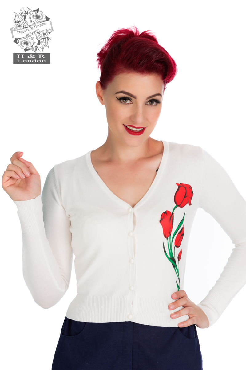 Ivory Floral Cardigan