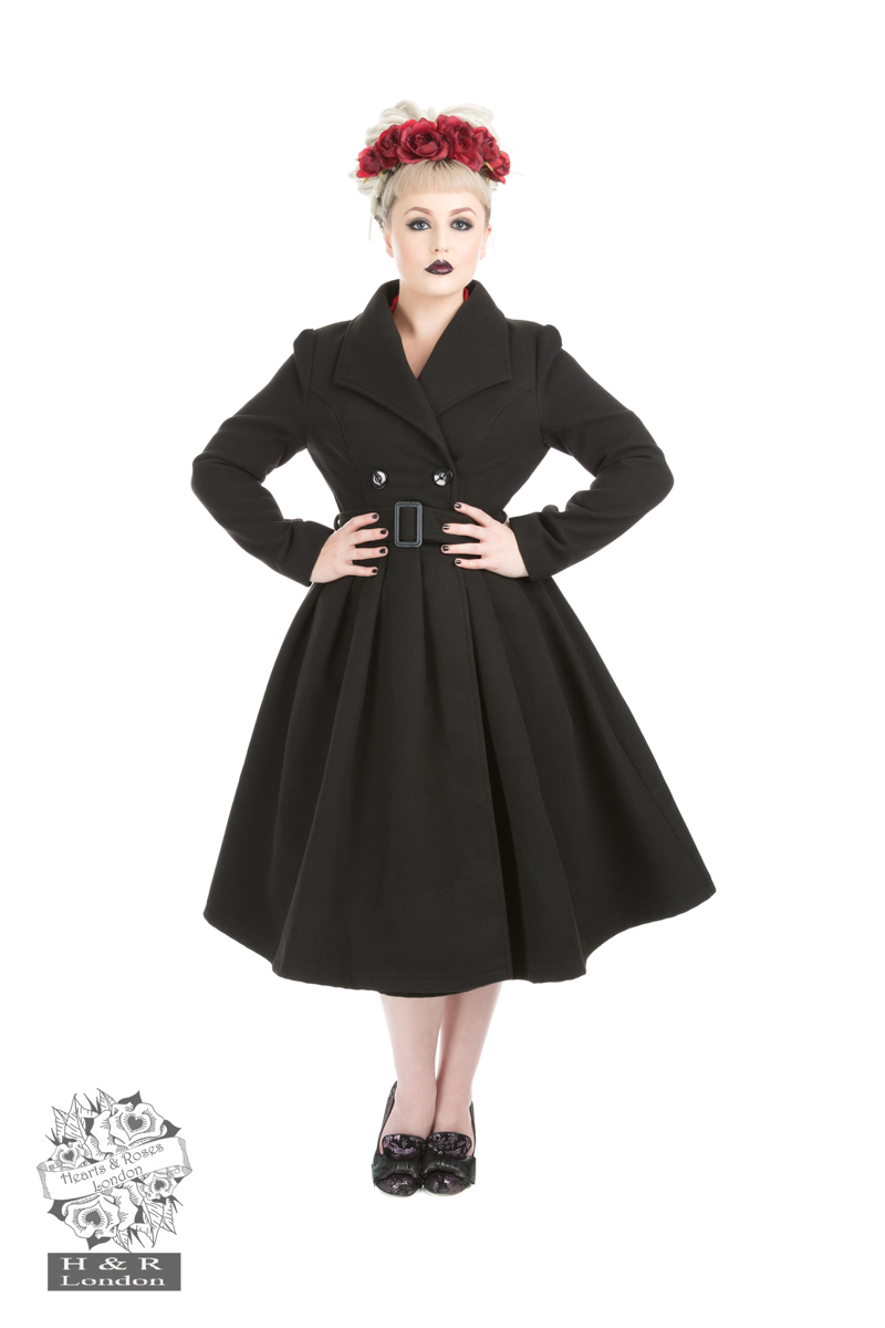 Black Vintage Swing Coat