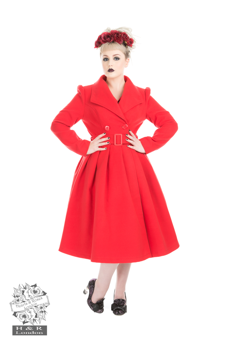 Red Vintage Swing Coat (Size 6 Available Separately)