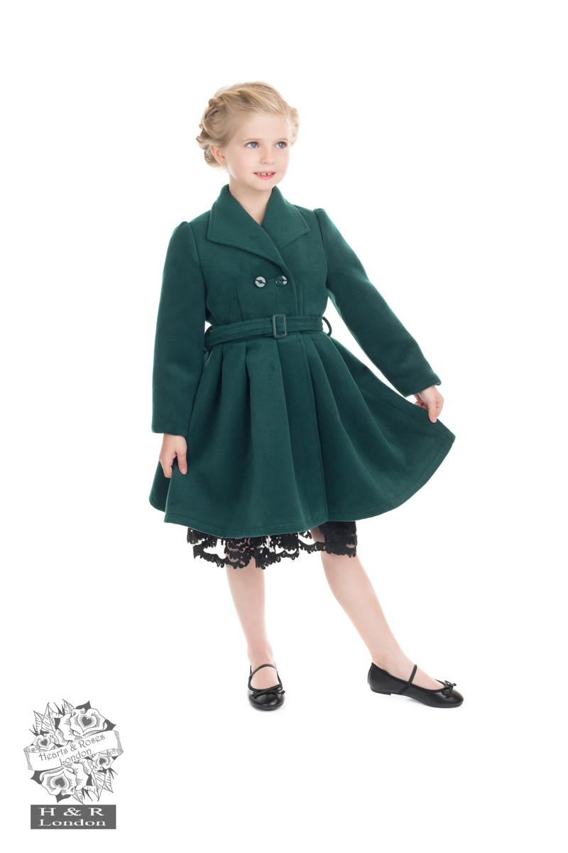 Green Vintage Swing Coat