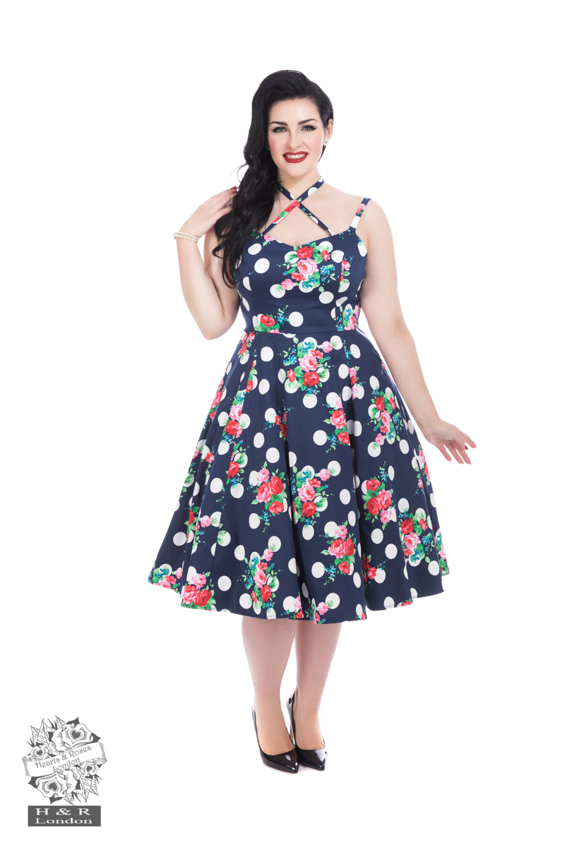 Dotty Floral Swing Dress