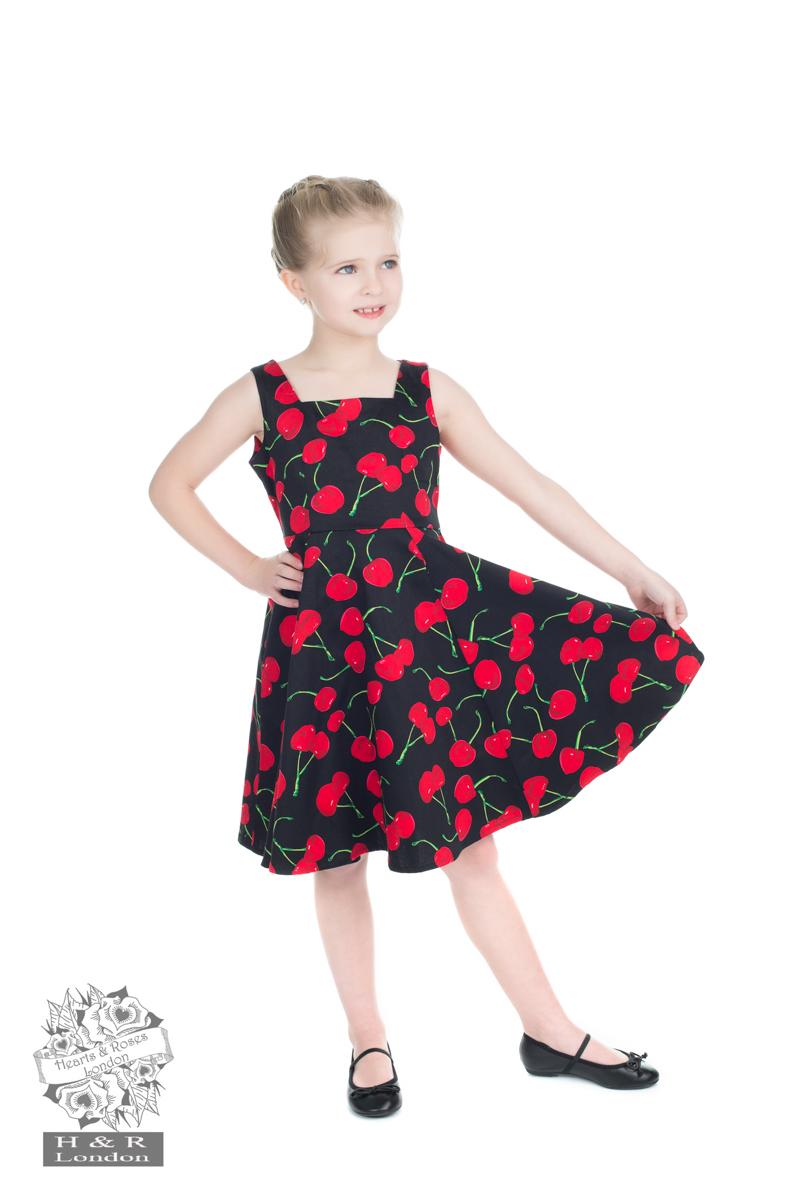 Black Bombshell Cherry Swing Dress