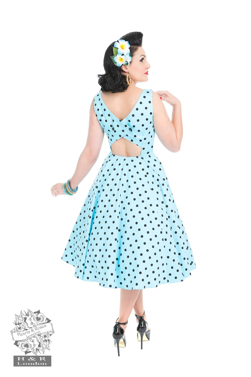 Rhiannon Swing Dress In Sky Blue