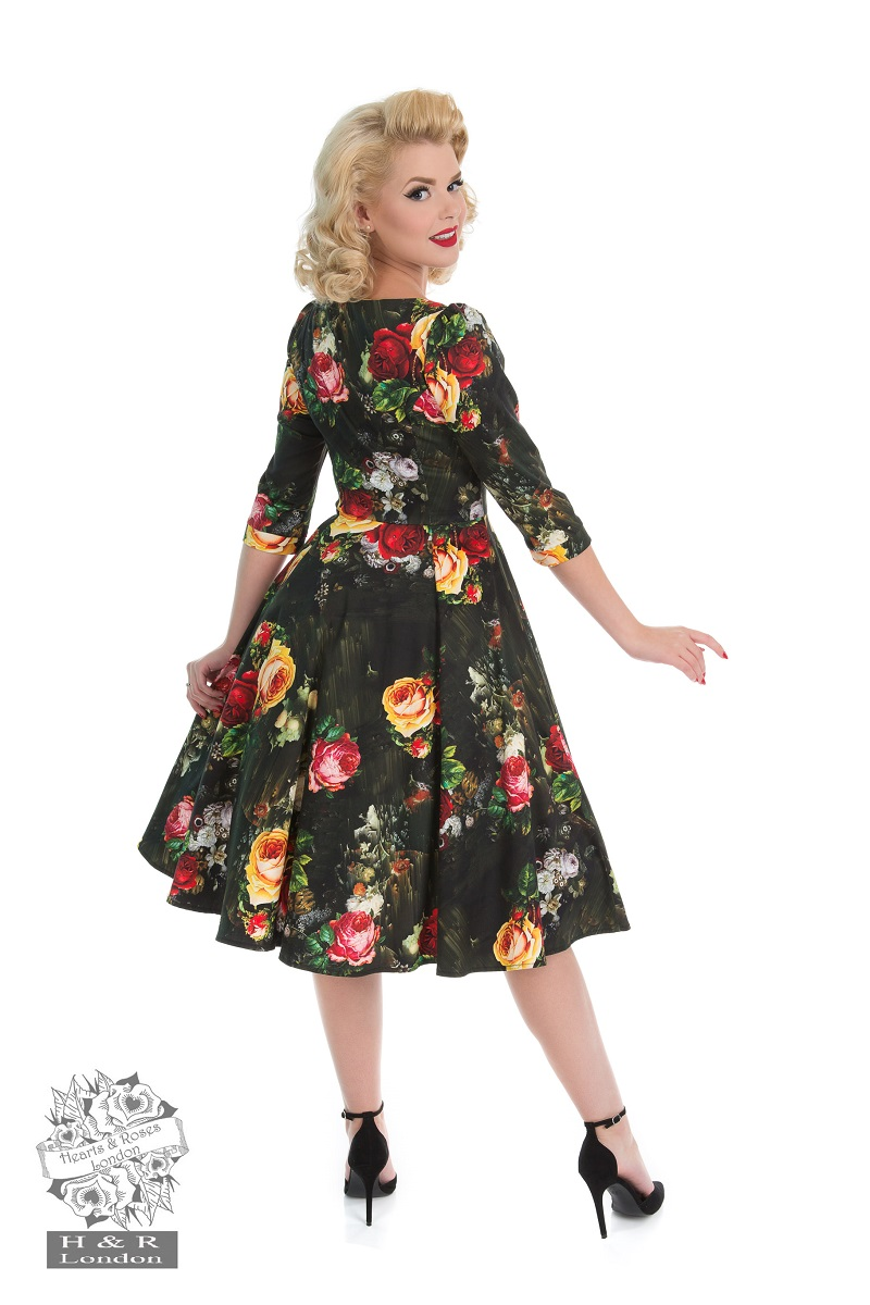 Striking Rose Swing Dress