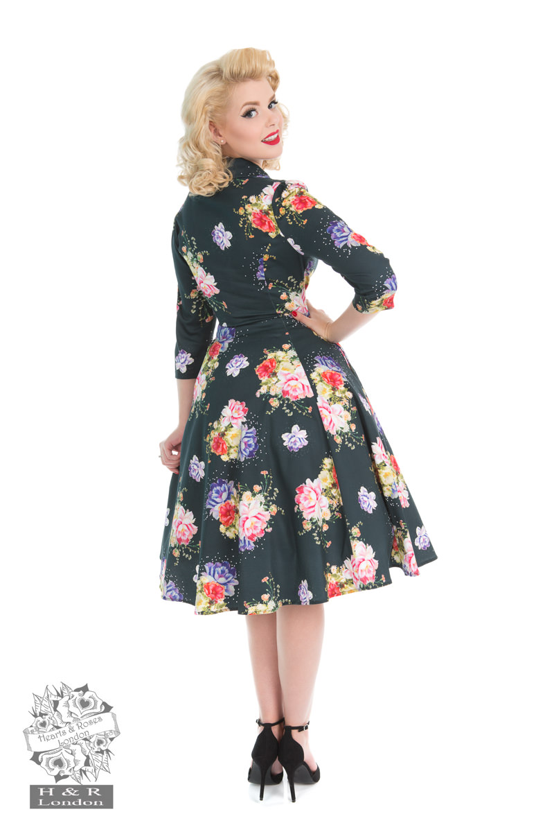 Stardust Floral Swing Dress