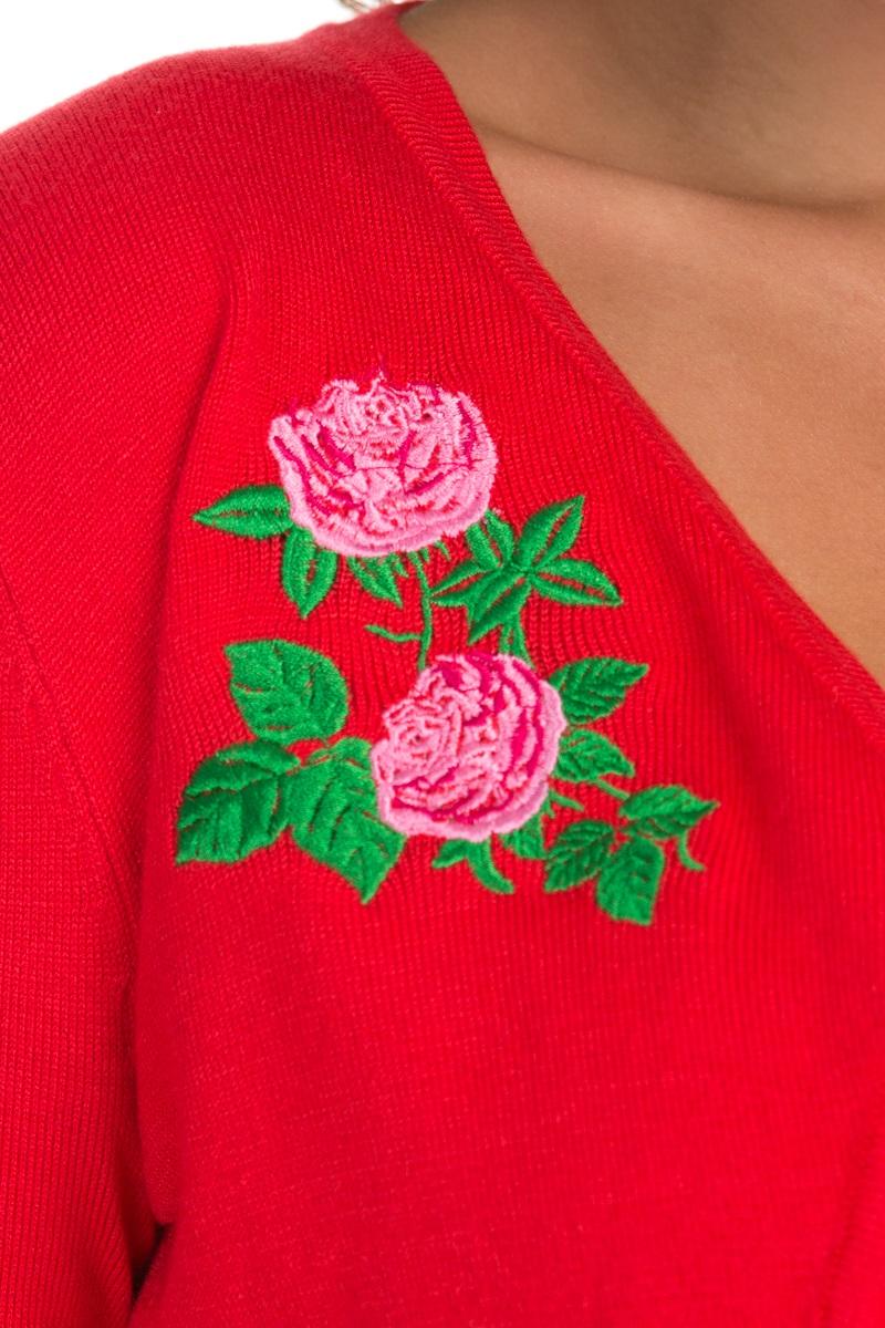 Centifolia Rose Shrug In Red
