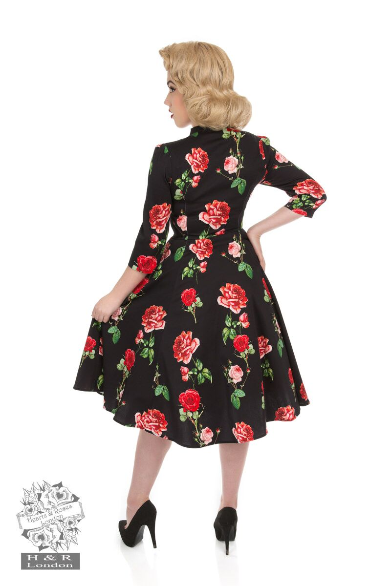 Black Red Roses Dress