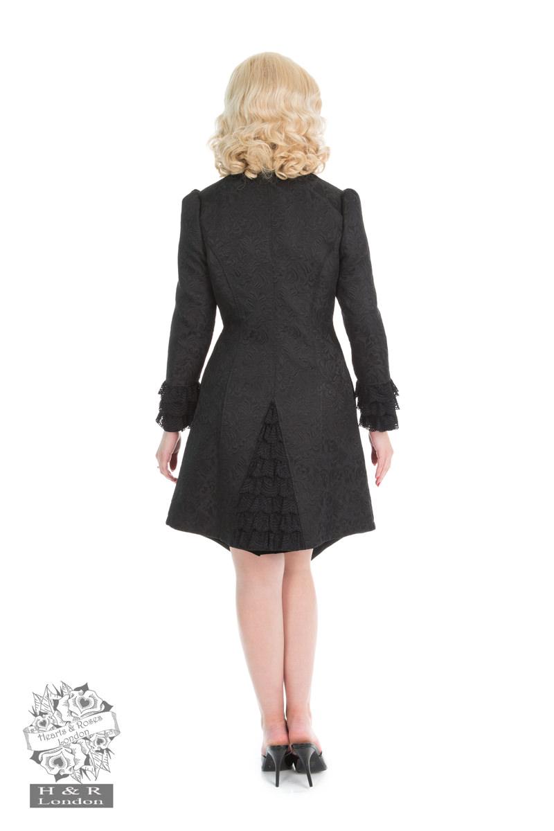 Black Floral Lolita Coat