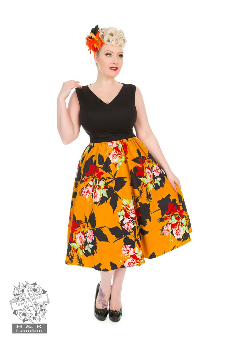 Wild Rose Swing Dress