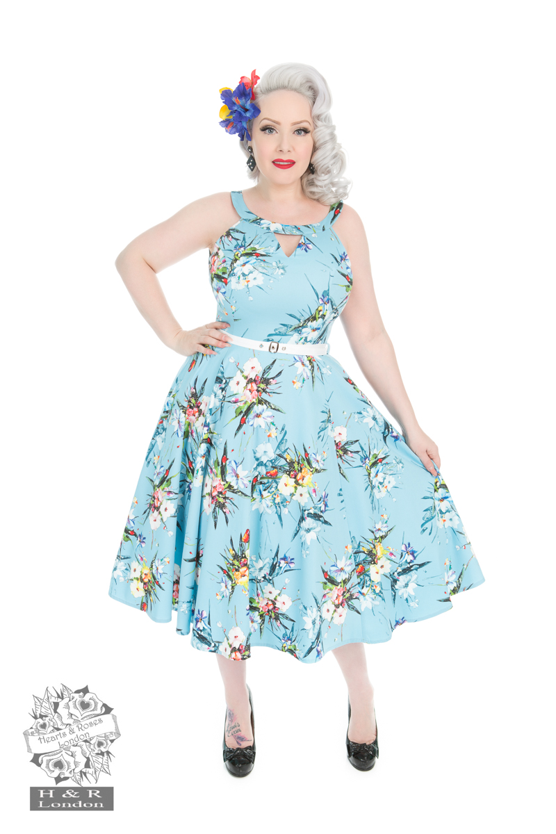 Blue Lizzy Floral Dress