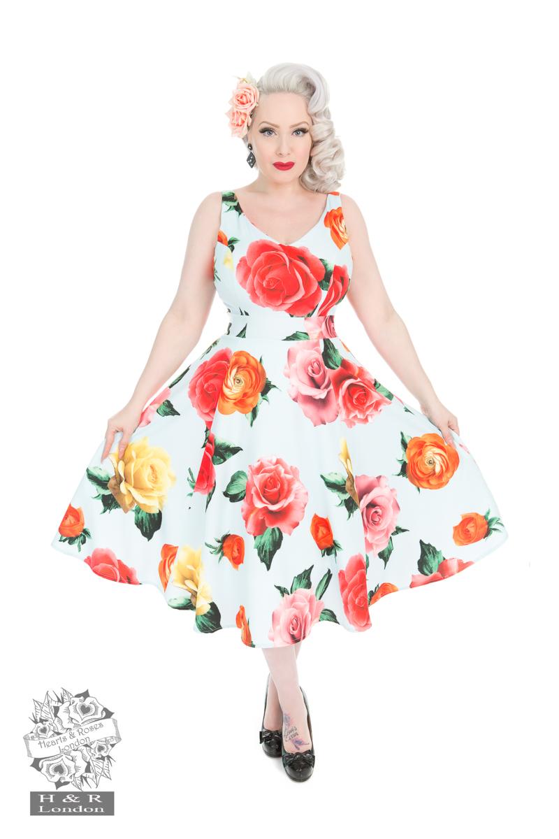 Blue Jacinta Floral Dress