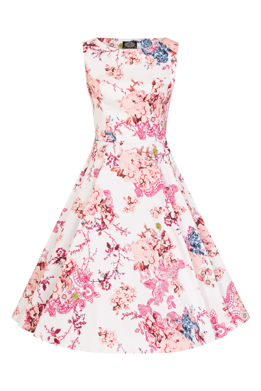 602aa2bf6b01 Heavenly Audrey Swing Dress in white - Hearts & Roses London