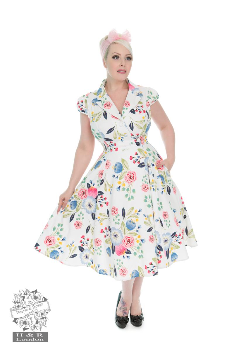 White Blossom Tea Dress