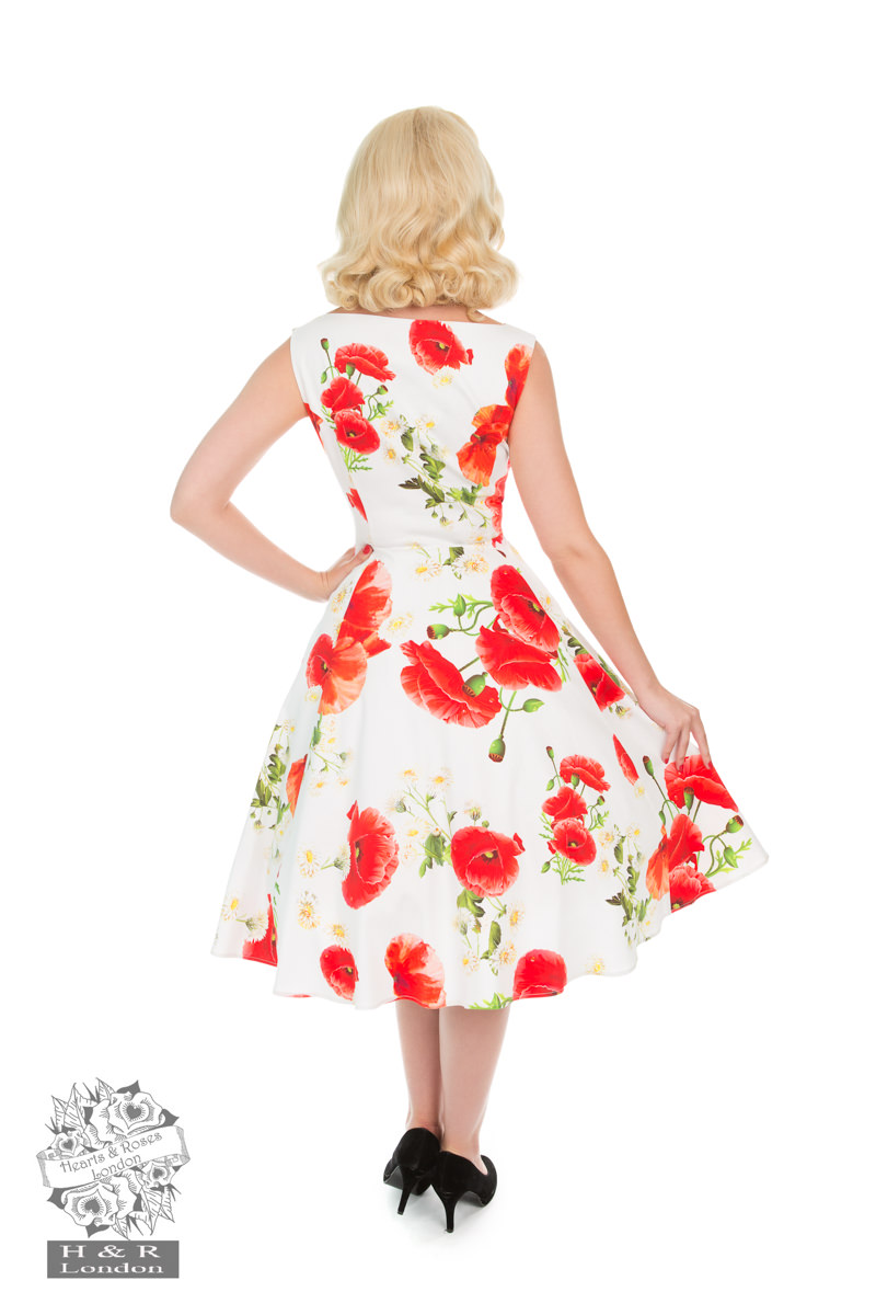 Opium Poppy Floral Dress