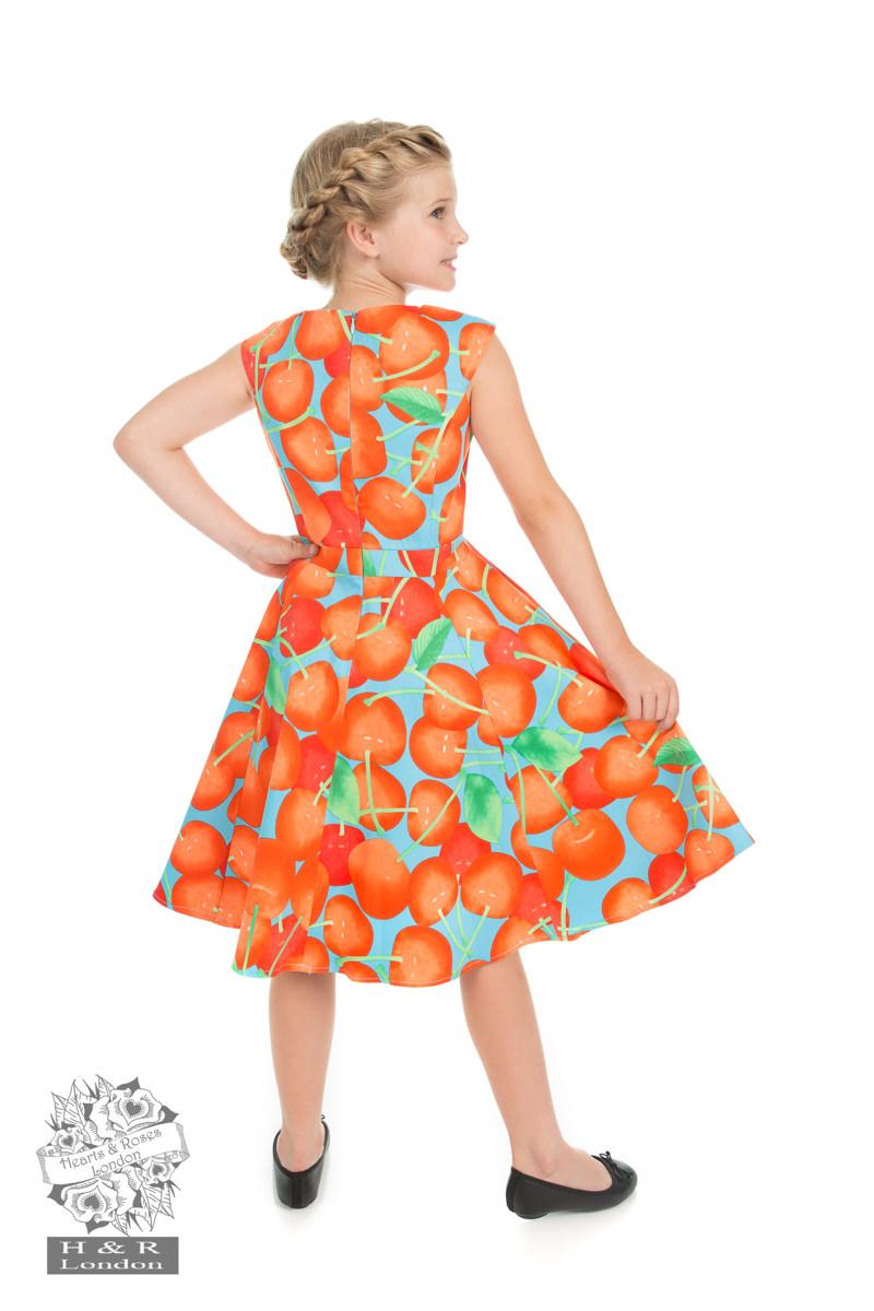 Royal Ann Cherry Dress In Blue