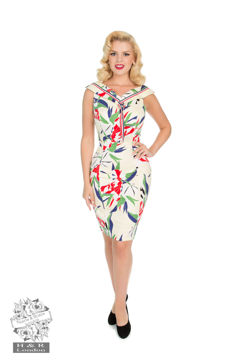 Heaps of Leaves Wiggle Sailor Dress
