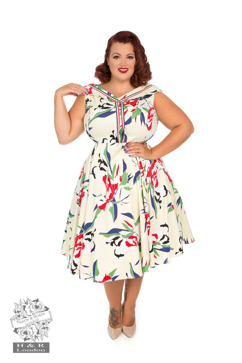 Heaps of Leaves Sailor Dress