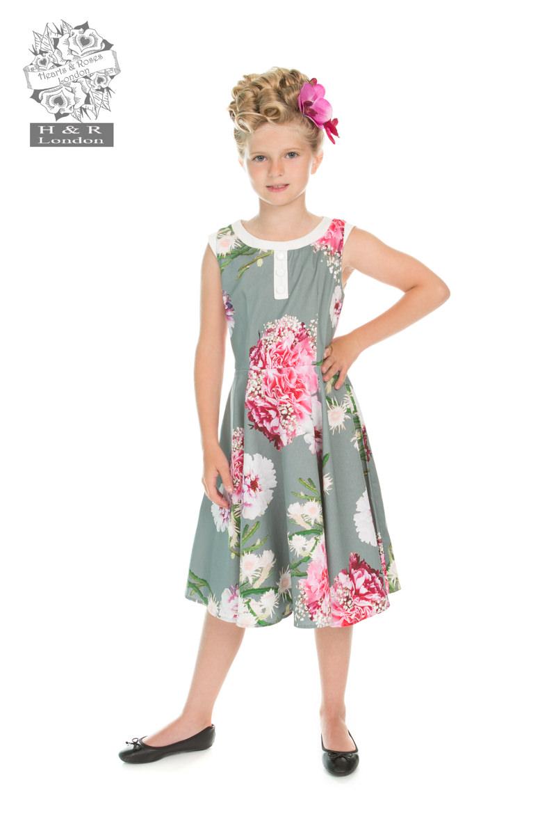 Girls Mix Floral Hepburn Dress