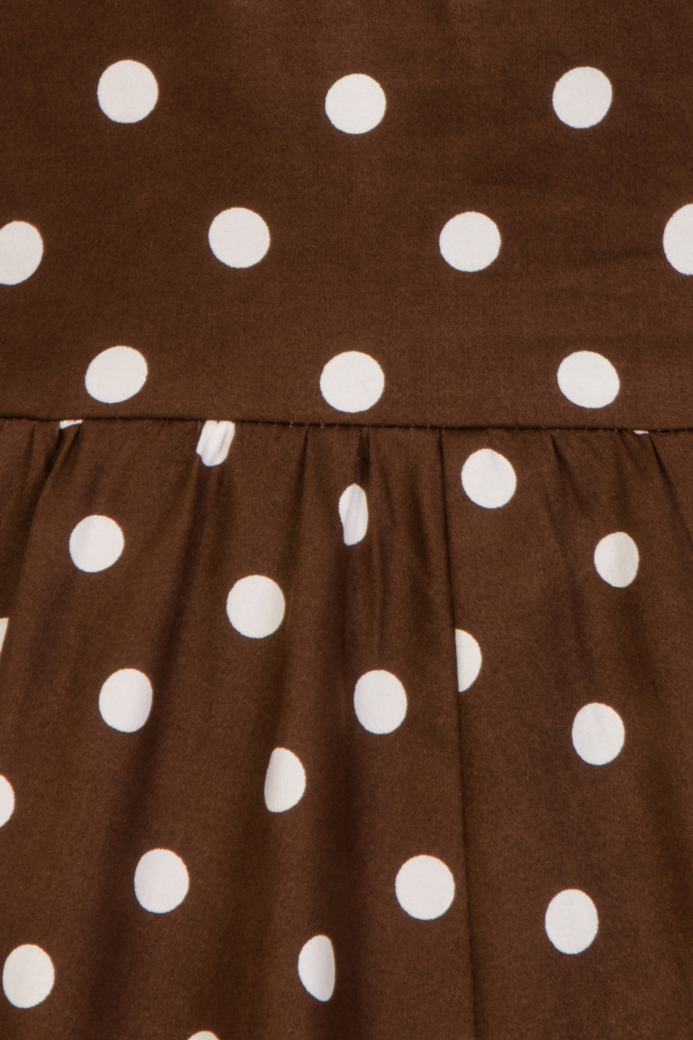 Girls Ravishing Chocolate Polka Dot Swing Dress