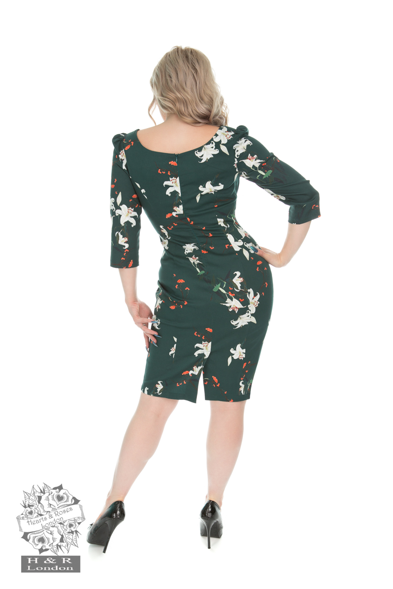 Dorothy Lily Floral Wiggle Dress