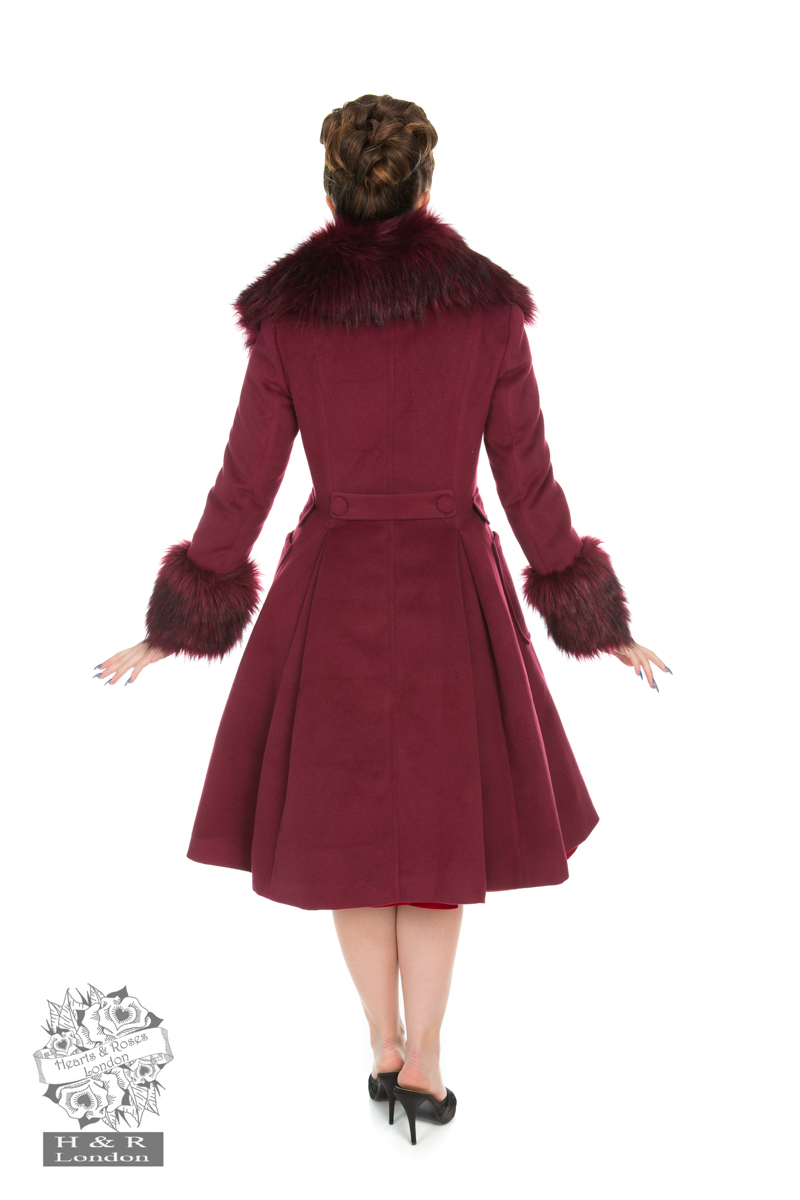 Fiona Coat In Wine
