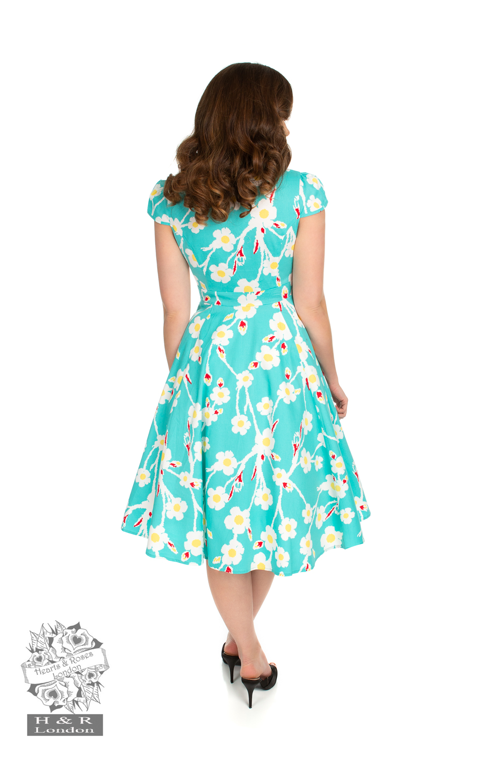 50s Nancy Floral Swing Dress