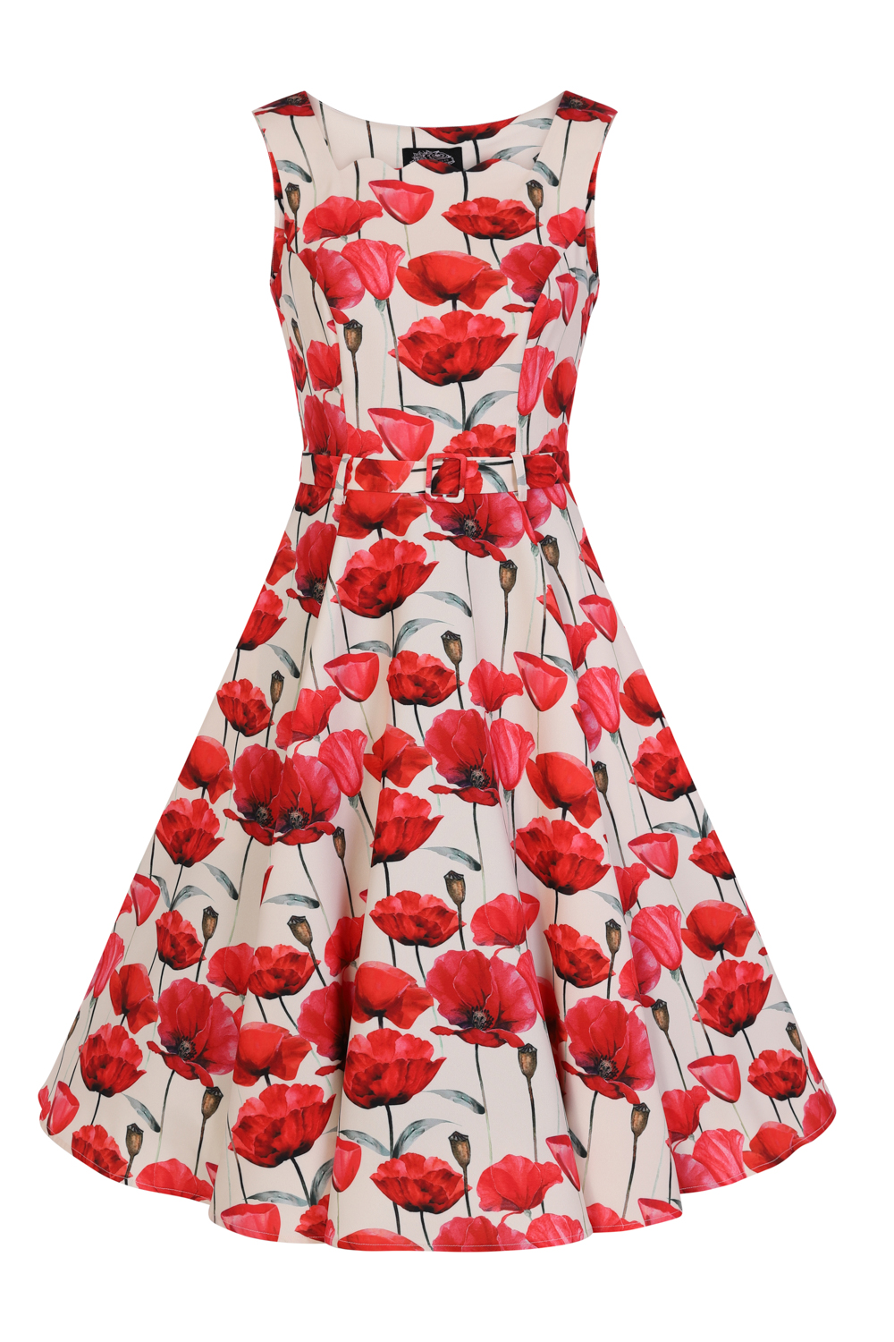Sweet Poppy Swing Dress