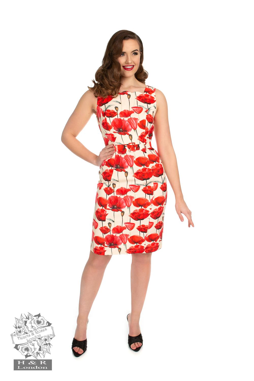 Sweet Poppy Wiggle Dress